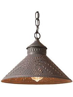 Stockbridge Pendant Light with Punched Willow Design | House of Antique Hardware
