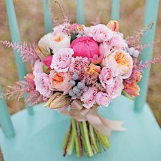 Organized pink garden bouquet | Leah Mullett Photography | Bouquet: Hey Gorgeous Events