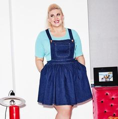 The denim dungaree dress is baaaaack! #GlitterClothes #sog #sprinkleofglitter