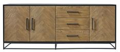 Dressoir Veneta eiken fineer zwart/naturel