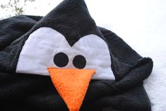 Penguin Hooded Towel Tutorial