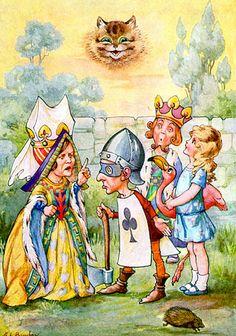 adorable vintage illustration by a.l. bowley of alice in wonderland