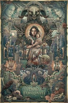 Beautiful poster art for Pan's Labyrinth.