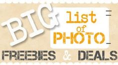 BIG List of Photo Freebies, Deals, and Fun Gifts! ~ at TheFrugalGirls.com #photo