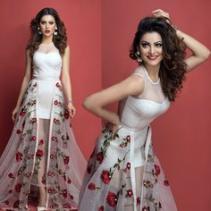 The gorgeous Urvashi Rautela stuns in our valentine gown with redroses from labelnityabajaj NITYA BAJAJ spotted in a shoot from GnG magazine Bollywood Celebrities, Bollywood Fashion, Bollywood Actress, Star Fashion, Girl Fashion, Fashion Show, Fashion Dresses, Fairy Dress, Indian Beauty Saree