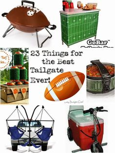 23 tailgating must haves. A list of top tailgate supplies for football fans.