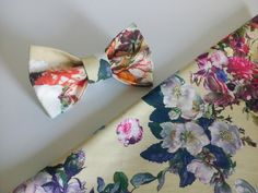 Pajaritas - lazo floral, corbata de lazo floral - hecho a mano por Accessories-482 en DaWanda #moda #hombre #modamasculina #bisuteríahombre #pulserashombre #DaWanda #fashion  #hechoamano #diseño #handmade #DIY