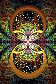 fractal by SuicideBySafetyPin Fractal Design, Fractal Geometry, Sacred Geometry, Fractal Images, Fractal Art, Psy Art, Visionary Art, Fractal Patterns, Psychedelic Art