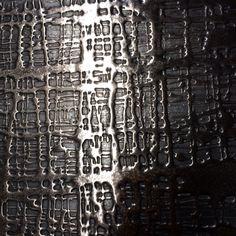 Bouclé fabric style liquid metal - Bronze  Gunmetal - Luxury finish by Stuart Fox