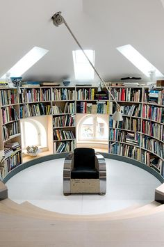 Une bibliothèque ovale - Marie Claire Maison