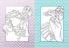 Dibujos de las princesas en un cuadernillo...    #princessdisney #free #printables