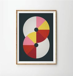Poster, Mid Century Art print, retro Print Poster, Geometric Art Print, Geometric poster, Abstract Art Print, Abstract Posters by AngelaFerrara on Etsy