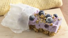 """Get your yogurt and granola in a frozen bar that you can """"grab and go"""" for breakfast or for a snack any time of day."""