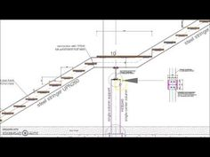 Straight Single Flight Steel Staircase Detail. UPN260 double stringer supported from a middle column and beam. All connections included with this detail. Led Stair Lights, Stair Lighting, Staircase Drawing, Staircase Design, How To Draw Stairs, Straight Stairs, Stair Plan, Steel Stairs, Stair Detail