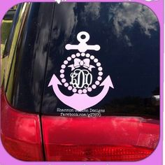 Anchor, Monogram & Pearls Decal