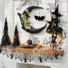 Grandin Road Halloween, Halloween Decorations, Halloween Wreaths, Halloween Magic, Halloween Ideas, Halloween 2020, Halloween Party, Halloween Centerpieces, Halloween Fireplace