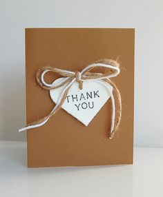 RUSTIC DIY THANK YOU CARDS - looks doable                                                                                                                                                      More