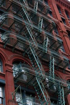 Fire escape - cast-iron building - New York