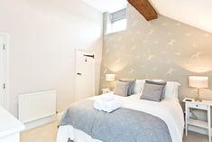 Bedroom 2 #wallpaper #wall #feature #blue #light #birds #nature #swallow #peak #district