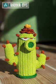 "CH Etsy: Crochet Pattern of Cactus from ""Plants vs Zombies"" by Aradiya (Pattern - R$7,25)*"