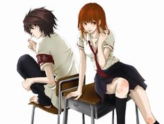 Light Yagami (genderbend) and L Lawliet   _Death Note