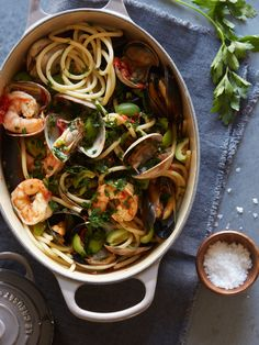 Sun Dried Tomato and Seafood Puttanesca with Le Creuset and HauteLook