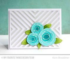 Handmade card from Karin Åkesdotter featuring Lisa Johnson Designs Scribble Roses #mftstamps