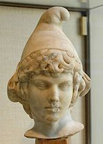 """Phrygian cap,  soft felt or wool conical headdress fitting closely around the head and characterized by a pointed crown that curls forward. In the later parts of Roman history, the god Mithras - whose worship was widespread until suppressed by Christianity - was regularly portrayed as wearing a Phrygian cap, fitting with his being perceived as a Persian god who had """"come out of the East"""".  http://en.wikipedia.org/wiki/Phrygian_cap"""