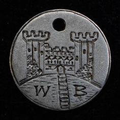 Love Token Engraved WB w Castle Design on Great Britian 3 Three Pence Silver | eBay