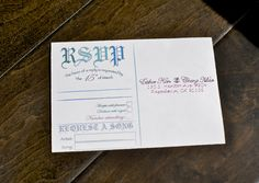 DIY RSVP cards with a Request A Song section :)