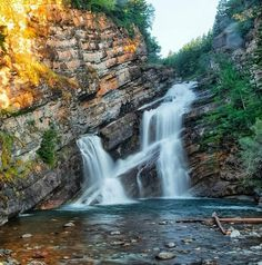 Cameron Falls, Waterton Lakes National Park, Alberta, Canada.