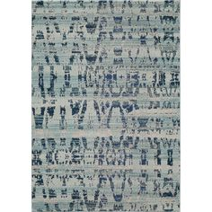 The casa collection is a plush rug and comfort under your feet with decorative concepts all around. In cool hues of blue and grey, this abstract area rug will instantly liven up the ambiance in any room.