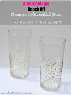 Anthropologie inspired gold dot glasses