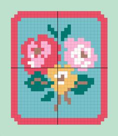 Rose badge, free Cath Kidston chart by Prima Magazine.