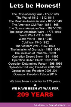 Although we didn't technically join WWI until I had noticed that every generation had seen at least one war. something to think about. The Spanish American War, Mexican American War, American Civil War, American History, American Spirit, Native American, Us History, History Facts, Funny History