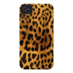 Authentic Leopard Fur Texture iPhone 4 Case-Mate Cases