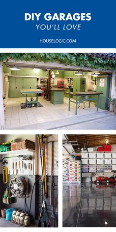 Garage organization ideas and storage solutions that will totally transform your garage into a cool space while solving your storage problems.