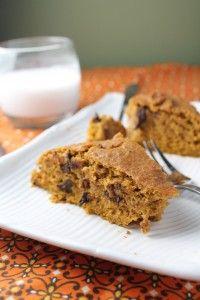 Moist Pumpkin Snack Cake (gluten free, vegan, refined sugar free)