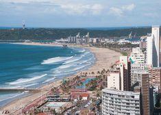 Beautiful Durban city on the KZN coast. Kwazulu Natal, Top Place, In 2019, Paris Skyline, Life Is Good, Places To Visit, Coast, City, Beach