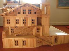 Wooden Building Blocks, Miniature Houses, Creative Play, Dollhouses, Plank, Activities For Kids, Kindergarten, Construction, Diy Crafts