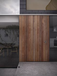 :: PROJECT North Vancouver :: adore the sliding wood door with concealed track #projectnorthvancouver #doors