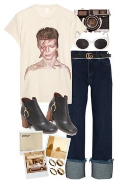 """""""Untitled #10390"""" by nikka-phillips ❤ liked on Polyvore featuring Marques'Almeida, Gucci, MadeWorn, See by Chloé, Polaroid and ASOS"""