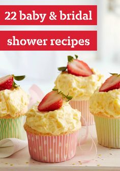 22 Baby & Bridal Shower Recipes -- These recipes are ideal for celebrating moms- and brides-to-be. Our easy appetizers provide plenty of dainty nibbles for a shower. And for dessert? Take a peak at our luscious cakes.