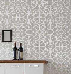Stencil your walls with our Geometric stencil patterns and get a look of a designer wallpaper without the high cost! With our geometric wall stencils, DIY wall decor is easy! By Cutting Edge Stencils Tile Patterns, Wallpaper Stencil, Stencils Wall, Home Decor, Diy Decor, Flooring, Moroccan Tiles Pattern, Wall Stencil Living Room, Tile Stencil