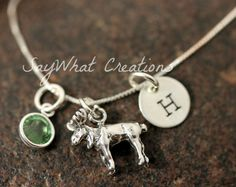 Sterling Silver Moose Charm Necklace with Mini by SayWhatCreations, $42.00