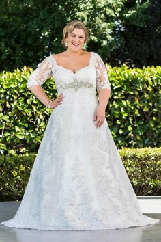Plus Size Wedding Dresses With Long Sleeves – Gone are the days when the bridal gown stores stocked gown catering to only the smaller sizes. Description from dressesglobal.com. I searched for this on bing.com/images