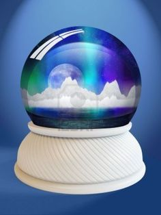 A snow globe from the room that Daniel created