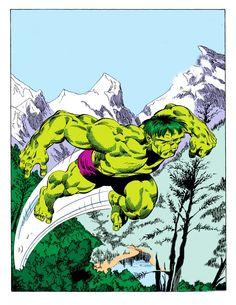 smashing Hulk on the run by Byrne