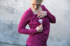 Image of Katharina Cowl - Merino Breastfeeding Top