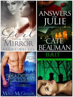 Romantic suspense, urban fantasy, mystery and paranormal romance! Check out these incredible free and bargain ebooks!